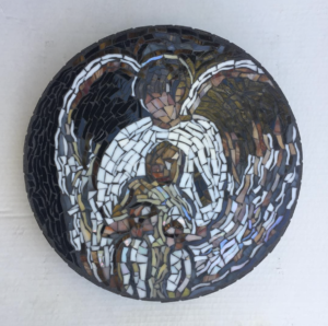Angel tile mosaic