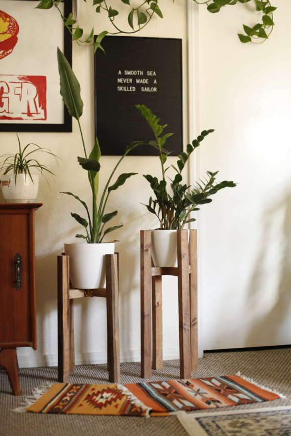 modern plant holders for front porch
