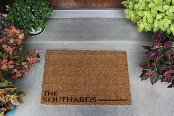 spring decor door mat